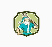 Santa Claus Mechanic Spanner Shield Cartoon Unisex T-Shirt