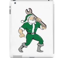 Santa Claus Mechanic Spanner Isolated Cartoon iPad Case/Skin