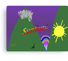 Silly Landscape Canvas Print