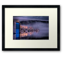 Marina Morning Sunrise Framed Print