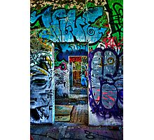 Tram Shed Doors 2 Photographic Print