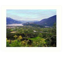 Lakes Caldonazzo and Levico (Italy) Art Print