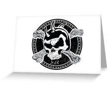 Skull Design T-Shirt Greeting Card