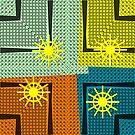 Geometrical pattern with sun by RosiLorz