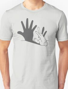 rabbit hand shadow funny T-Shirt