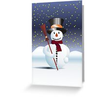 Snowman for Xmas Greeting Card