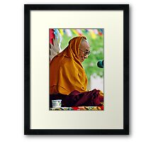 HH Dalai Lama. pin valley, northern india Framed Print