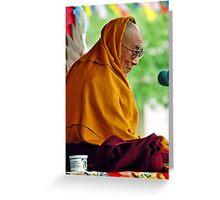 HH Dalai Lama. pin valley, northern india Greeting Card