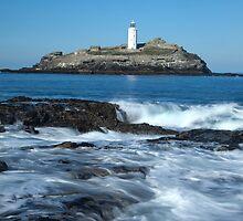 Godvrevy lighthouse, cornwall by mara calvi