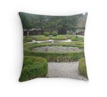 Ruthin castle garden Throw Pillow