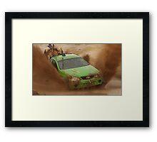 Mud Racing Framed Print