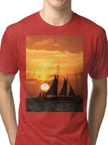 Sunset Sail in Key West II Tri-blend T-Shirt