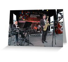 James Valentine Band @ Jazz & Blues Festival Greeting Card