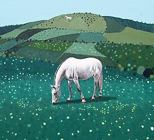 The White Horse of Alfriston by Ludwig Wagner