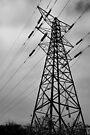 a black and white pylon by Mat Robinson