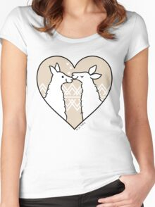 Llama Love  Women's Fitted Scoop T-Shirt