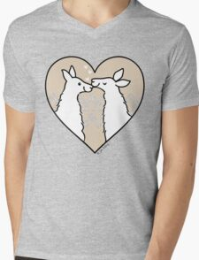 Llama Love  Mens V-Neck T-Shirt