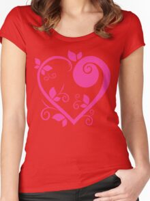 Stylish Heart Women's Fitted Scoop T-Shirt