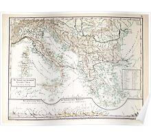 Atlas zu Alex V Humbolt's Cosmos 1851 0165 The Jtalische and Griechishe Peninsula Poster