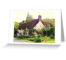 thatched cottage, dunster village, uk Greeting Card