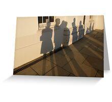 Causing Shadows Greeting Card