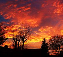 Urban Winter Sunset - Chelmsford, UK by MichelleRees