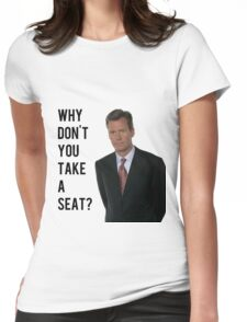 Chris Hansen Why don't you take a seat Womens Fitted T-Shirt