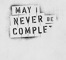 NEVER BE COMPLF by Daniel Coulmann