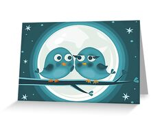 birds against the moon Greeting Card