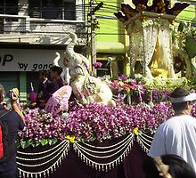 Flower Float in Festival at Chiang Mai. by Mywildscapepics