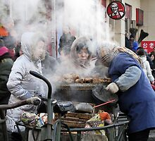 Street traders, Harbin, China by DaveLambert