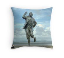 A Lancashire Lad by the Seaside Throw Pillow