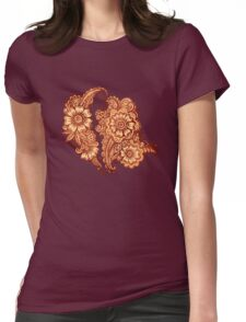 Ethnic henna pattern in Indian style Womens Fitted T-Shirt