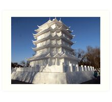 Snow Sculpture, Harbin, China Art Print