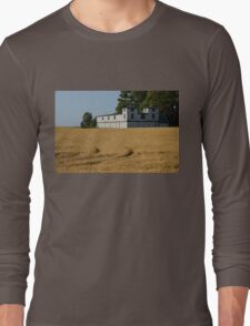 The Ancient Double Tower Barn in Golden Wheat Long Sleeve T-Shirt