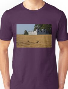 The Ancient Double Tower Barn in Golden Wheat Unisex T-Shirt