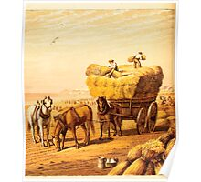 Aunt Louisa's Nursery Favorite by Laura Valentine art Kate Greenaway 1870 0156 Haying and Hay Wagon Poster