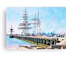 Stad Amsterdam - One And All - Enterprize Canvas Print