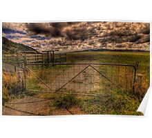 Don't fence Me In (Panoramic) - On The Road To Canberra - The HDR Experience Poster