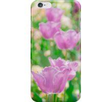 tulips in a garden iPhone Case/Skin