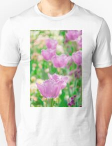 tulips in a garden T-Shirt