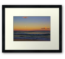 Old Bar Beach Sunset Framed Print