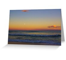 Old Bar Beach Sunset Greeting Card