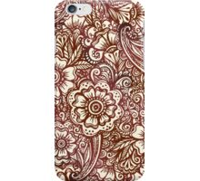 Ethnic henna pattern in Indian style iPhone Case/Skin
