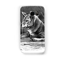 Black and white illustration of the Dingo Samsung Galaxy Case/Skin