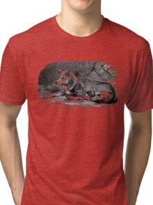 Black and white illustration of the Dingo Tri-blend T-Shirt