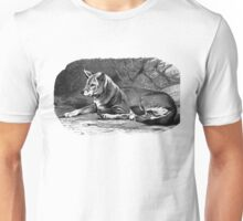 Black and white illustration of the Dingo Unisex T-Shirt