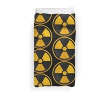Nuclear Symbol, Nuke Icon Duvet Cover