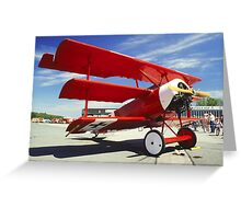 Red Baron Greeting Card