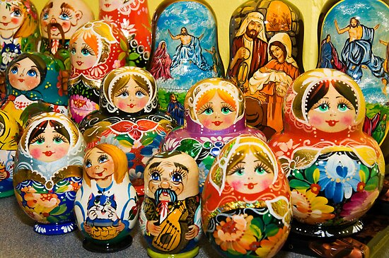 Matryoshka Dolls by Tracy Riddell